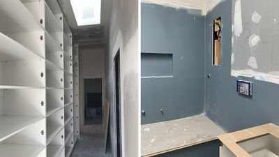 Storage and bathroom   During