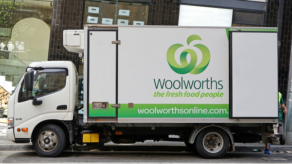 Woolworths online delivery truck
