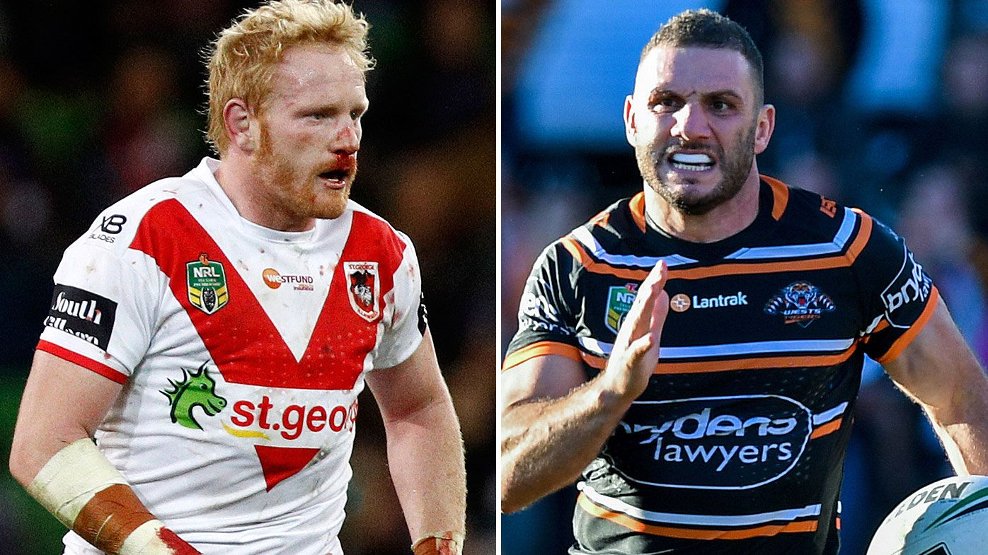 NRL preview: St George Illawarra Dragons vs Wests Tigers - Round 18