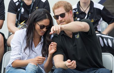 Meghan Markle and Prince Harry attend the Wheelchair Tennis on day 3 of the Invictus Games Toronto 2017