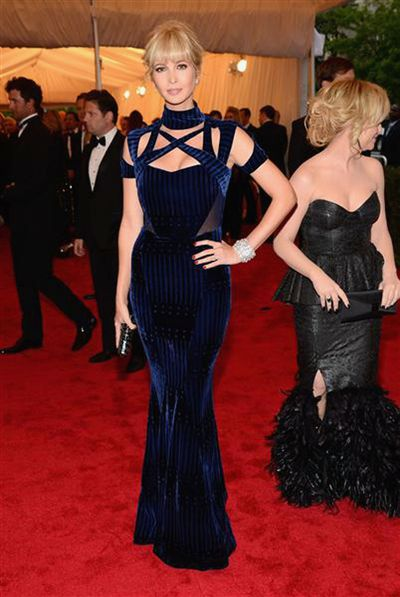 Ivanka Trump in Peter Pilotto and her own accessories at the 2012 Met Gala, <em>Schiaparelli And Prada: Impossible Conversations.</em>