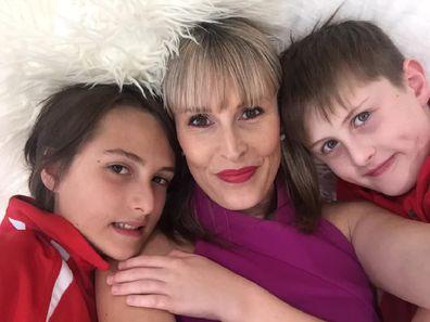 Sharon Muscet with er children