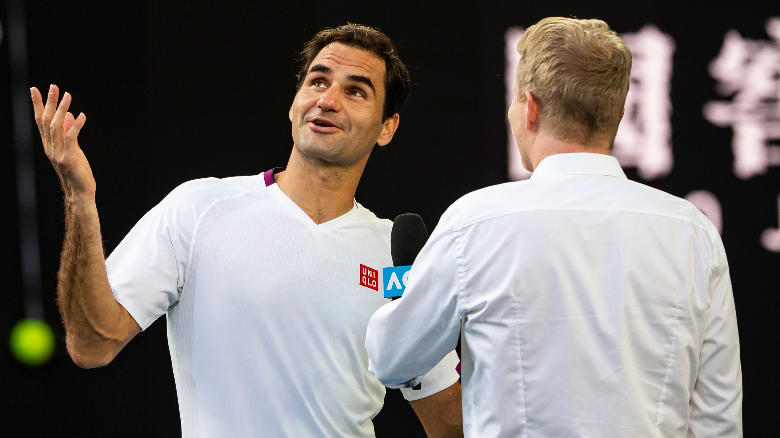 Roger Federer with Jim Courier