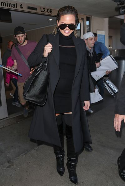 Chrissy Teigen at Los Angeles airport in February, 2018