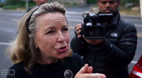 Unidentified Scientology spokesperson berates Tara Brown on camera.