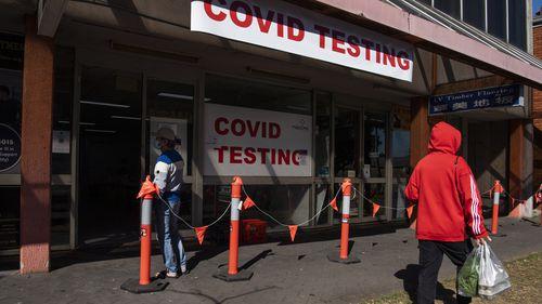 Campsie COVID testing clinic in Sydney.