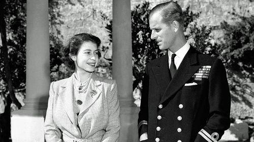 Princess Elizabeth, later Queen Elizabeth II, and the Philip, Duke of Edinburgh in 1949. (AP).