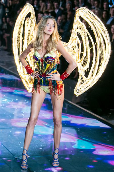 Martha Hunt for Victoria's Secret.