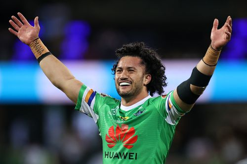 Corey Harawira-Naera during the NRL Semi Final match between the Sydney Roosters and the Canberra Raiders at Sydney Cricket Ground on October 09, 2020 in Sydney, Australia. (Photo by Cameron Spencer/Getty Images)