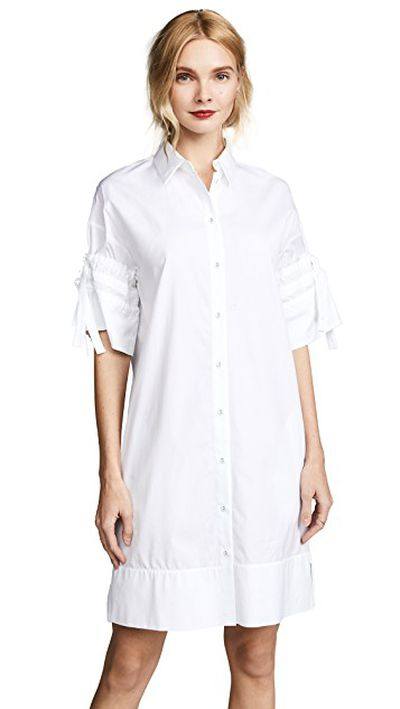 "<a href=""https://www.shopbop.com/gathered-sleeve-shirt-dress-victoria/vp/v=1/1548570024.htm?fm=search-viewall-shopbysize&amp;os=false"" target=""_blank"">Victoria Victoria Beckham Gathered Sleeve Shirtdress in White, $393.50</a>"