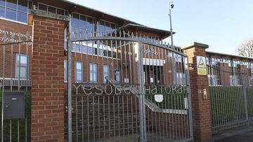 The Yesodey Hatorah Secondary Girls School is seen in Stamford Hill, north London, Friday, Jan. 22, 2021