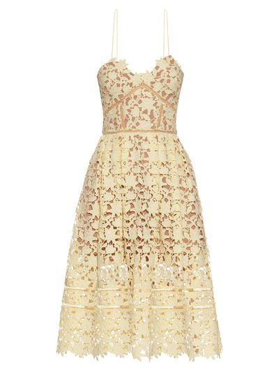 "<p>Age of innocence&nbsp;</p> <p>Self-Portrait Azaelea midi dress, $437 at <a href=""http://www.matchesfashion.com/au/products/Self-portrait-Azaelea-lace-midi-dress-1045601"" target=""_blank"">Matchesfashion.com</a><br /> </p>"