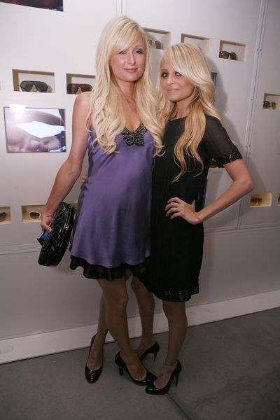 Paris Hilton and Nicole Richie host an event for Armani Exchange in 2007
