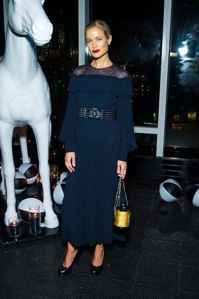 Carolyn Murphy at V Magazine's Intimate Dinner In Honour of Karl Lagerfeld, October 2017