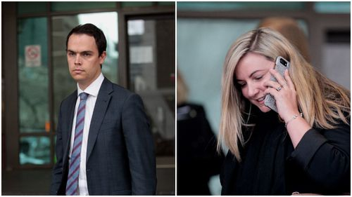 Reporter Kieran Jones and Mrs Ristevski's cousin Lisa Gray gave evidence today. Picture: AAP