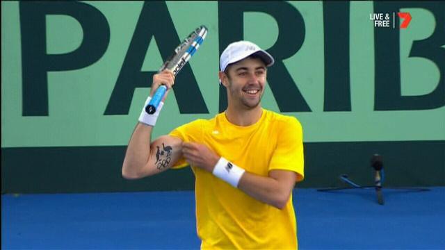 Australia off to positive start in Davis Cup