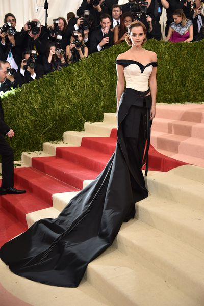 Emma Watson in Calvin Klein at the Manus x Machina: Fashion In An Age Of Technology Costume Institute Gala at Metropolitan Museum of Art in New York, May, 2016