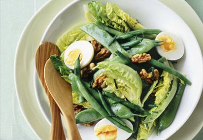 Green bean and walnut salad with verjuice vinaigrette