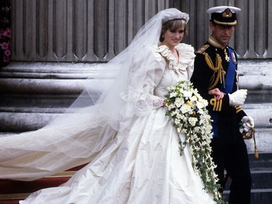 Princess Diana and Prince Charles on their wedding day in 1981.