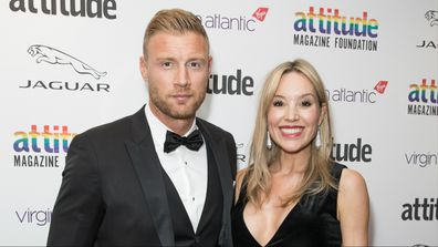 Freddie Flintoff and wife Rachael Wools