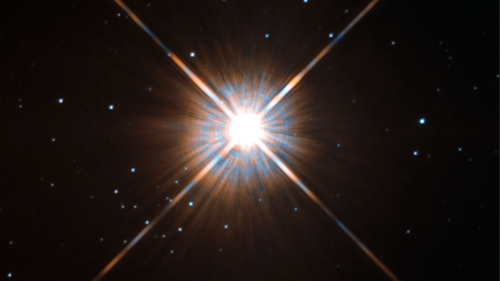 Hubble's new shot of Proxima Centauri, our nearest neighbour.