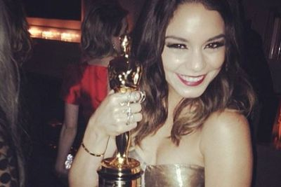 Vanessa... got an Oscar?! Stolen from Jared Leto we might add...