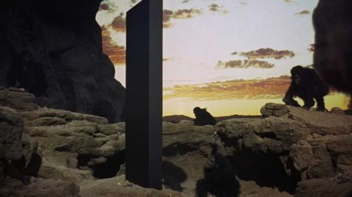 The iconic monolith as it featured in 1968's 2001: A Space Odyssey.