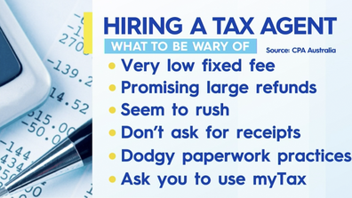 What to watch out for when hiring a tax agent.