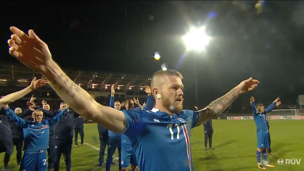 Iceland celebrate qualification