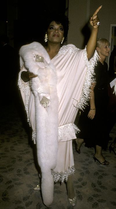In head-to-toe white at the 1986 Academy Awards