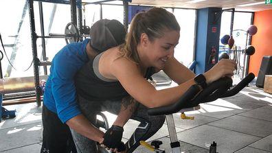 Jules Sebastian working out