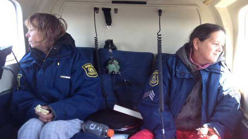 Leslie Roy, left, and Lee Marie Wright were found safe in Michigan's Upper Peninsula after a two week search. (Source: Michigan State Police)