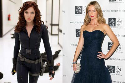 Emily Blunt as Black Widow in <em>Iron Man 2 </em>and <em>The Avengers</em>