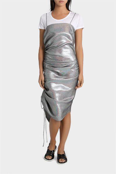 "Georgia Alice cami dress, $507 at <a href=""https://www.myer.com.au/shop/mystore/women/clothing/dresses/georgia-alice-blazing-cami-dress"" target=""_blank"">Myer</a><br />"