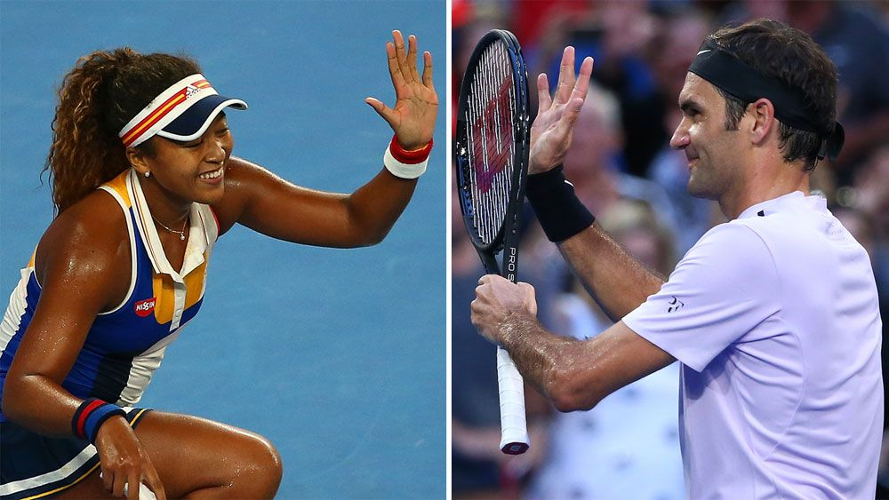 Swiss tennis champion Roger Federer aced by Japan's Naomi Osaka in Hopman Cup