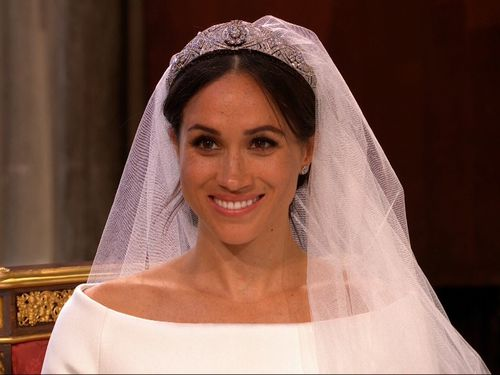 The open bateau neckline was reminiscent of the gown worn by Mary, Crown Princess of Denmark.