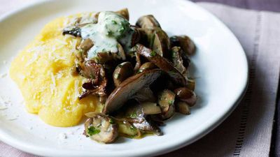 "<a href=""http://kitchen.nine.com.au/2016/12/12/16/10/mushroom-mascarpone-and-polenta-bake"" target=""_top"">Mushroom mascarpone and polenta bake</a><br> <br> <a href=""http://kitchen.nine.com.au/2016/06/06/21/47/vegetarian-favourites-for-meatfreemonday"" target=""_top"">More vego recipe where you don't miss the meat</a>"