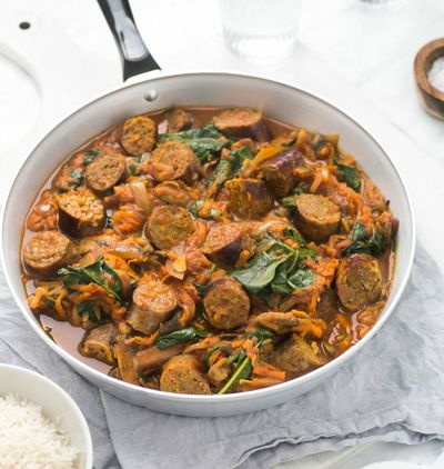 Curried Sausages – $1.65 per serve