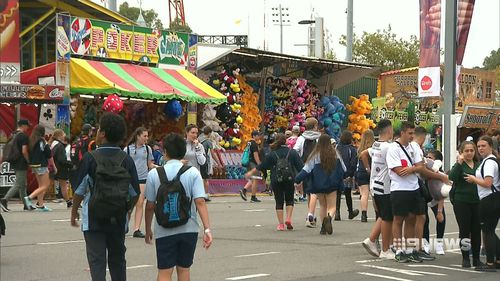 The crowds enjoyed strange taste sensations and saw some very pretty rats. (9NEWS)