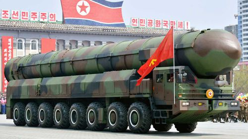 North Korea rolls out its nuclear weapons. (File/AAP)