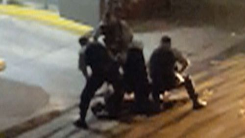 Officers have alleged the teen was resisting arrest.