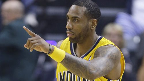 Rasual Butler playing for the Indiana Pacers during the NBA final in 2014. (AAP)