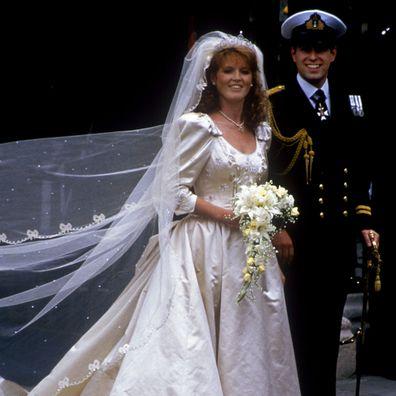 Prince Andrew and Sarah Ferguson 1986 wedding