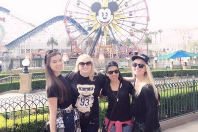 "@RebelWilson: ""Best day ever at Disneyland with the Bella crew."""
