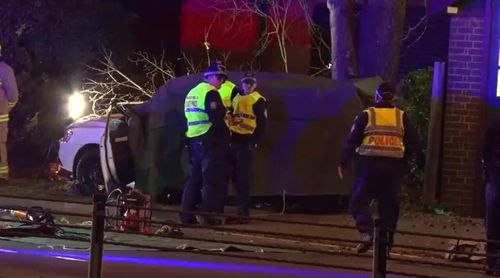 The crash comes as the second fatal incident on NSW roads in just one night. Picture: 9NEWS.