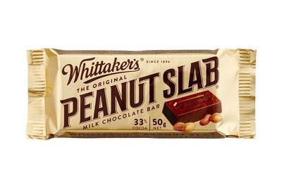 Whittaker's peanut slab 50g: Over 4.5 teaspoons of sugar