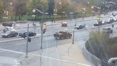 Downtown Ottawa was placed in lockdown after the shootings. (AAP)