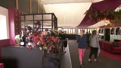 Rich burgundy interiors complement Seppelt's signature drop- a sparkling shiraz.