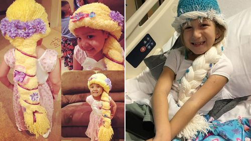 US volunteers send Disney inspired wigs to young girls with cancer
