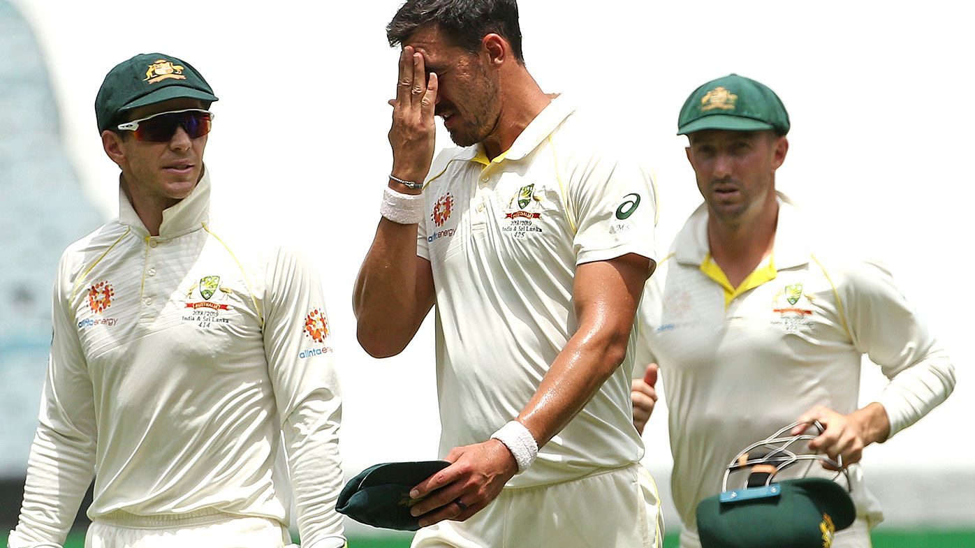 Australia struggled on day two